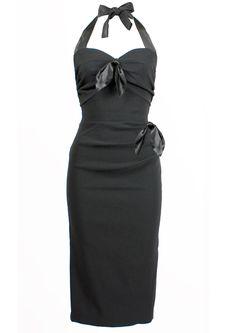 Coquette Wiggle Dress - black