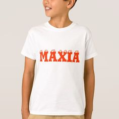 galego word for magice Maxia T-Shirt T-shirt with the word Maxia on it that is the galego word for magic,
