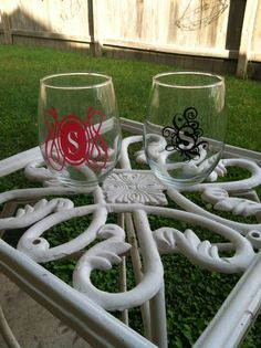 Stemless Wine Glasses.  These can be done in a variety of colors and come in a set of 4.  Check us out at www.facebook.com/pages/Sassy-Decor-and-More-LLC/365352106761