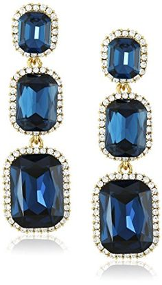 Cara Swarovski Crystal Three Montana Drop Earrings *** Find out more about the great product at the image link.