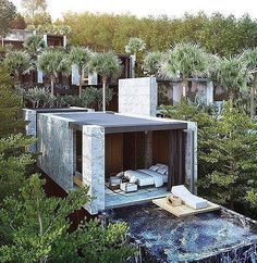 """""""Architecture Design The Oasis Villa Phuket Beach Front resort will offer a mix of just 9 Pool Villas into the unique surrounds of green and lush Kamala Hillside. It's probably my favorite Resort. Exterior Design, Interior And Exterior, Room Interior, Architecture Design, Architecture Today, Amazing Architecture, Fashion Architecture, Design Architect, Beautiful Homes"""