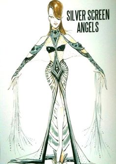 Original design sketch-Victoria's Secret Fashion Show Silver Screen Angels
