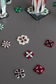 Magnets Large Frame handmade hundred of ironed by Leminussieu Melty Bead Patterns, Kandi Patterns, Hama Beads Patterns, Beading Patterns, Pearler Beads, Fuse Beads, Iron Beads, Melting Beads, Bead Crafts