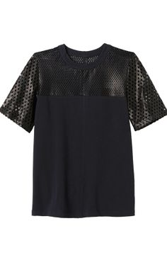 Rebecca Taylor - perforated leather top Rebecca Taylor, Simple Outfits, Women's Fashion, My Style, Spring, Casual, Polyvore, Image, Leather