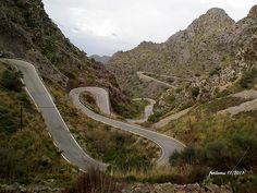 Mallorca -Tramontana bajada a Sa Calobra ~  this was a road through some fascinating terrain.