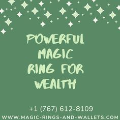 Magical rings for money and wealth are designed to increase your luck so that you can attract more money in your life. Magic rings for money are spelled by our team to work around luck and money in order to deliver that wealth you have been looking for.