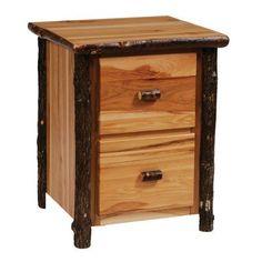 Fireside Lodge Furniture 87103 Hickory Two Drawer File Cabinet, Rustic Alder