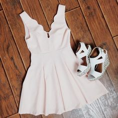 Perfect little pale pink dresses
