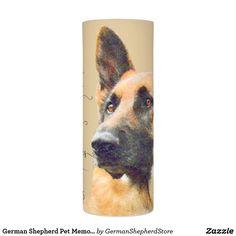 German Shepherd Pet Memorial and Remeberance Flameless Candle