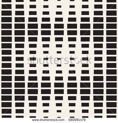 Repeating Rectangle Shape Halftone. Modern Geometric Lattice Texture. Vector Seamless Monochrome Pattern
