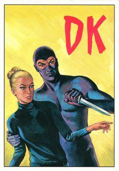 """PROMOCARD n. 150 1991 - DIABOLIK: """"Un pazzo sul set"""" (Illustrazione di Franco Paludetti) Diabolik, Design Reference, Illustrators, Pop Art, Comics, Artwork, Movie Posters, Painting, Comic"""