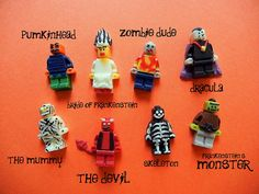 halloween lego minifig candies