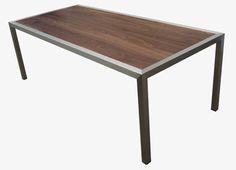 Kunstaal – kunst van RVS staal messing of zink – Innovatief met Staal » Tafel met noten houten blad