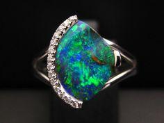 Boulder opal brilliance #opalsaustralia