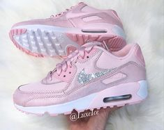 Sneakers – Women's Fashion : Nike Air Max 90 Prism Pink/White customized . Cute Sneakers, Cute Shoes, Air Max Sneakers, Sneakers Nike, Tenis Nike Air Max, Zapatillas Nike Air, Air Max 90, Air Max Thea, Souliers Nike
