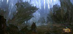 怪物猎人OL场景原画:黯幕之森
