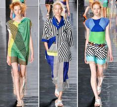 "Issey Miyake SS13 inspired by ""images of vibrantly colored birds alighting on water and flapping their wings"""