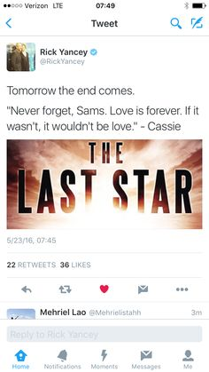 The Last Star teaser The 5th Wave Series, The Fifth Wave, The Last Star, Mayfly, Trust Your Instincts, Best Series, Her Smile, Teaser, Waves
