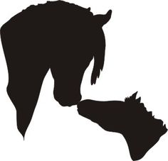 Mare and Foal horse head silhouette vinyl window decal - ClipArt Best Silhouette Painting, Animal Silhouette, Silhouette Cameo Projects, Silhouette Design, Silhouette Vinyl, Silhouette Images, Stencil Patterns, Applique Patterns, Horse Head