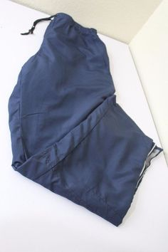 Reebok men  pants (M) medium blue shell 100% polyester , cotton blend pre-owned #Reebok
