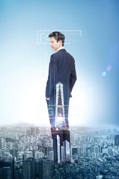 SFUS030, 프리진, 그래픽, 비즈니스, 사람, 기업, 회사, 회사원, 에프지아이, 합성, 편집, 편집포토, 배경, 백그라운드, 1인, 20대, 건물, 건축, 도시, 빌딩, 서있는, 전신, 남자, 비즈니스맨, 빛나는, 뒷모습, graphic,graphics #유토이미지 #프리진 #utoimage #freegine 20004752