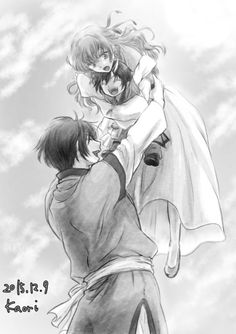Hak playing with Yona and their little son-this picture makes me so happy! Akatsuki No Yona/Yona of the Dawn. <---- Do you understand his cute this is???? This is literally my biggest ship. I want it to happen soooooo bad! I'm dying from the cuteness