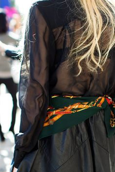 IDEA: Silk scarf as belt (ok maybe I don'  t have an Hermes scarf)  100112Sheer6842Web