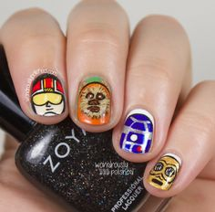 Wondrously Polished: May the Fourth be with You - Star Wars Nail Art  (I particularly like the ewok!)
