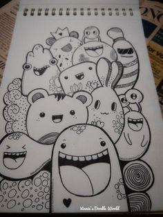 Easy Doodles Drawings, Cute Easy Drawings, Art Drawings Sketches Simple, Pencil Art Drawings, Drawing Ideas, Sharpie Drawings, Sharpie Doodles, Cute Doodle Art, Doodle Art Designs