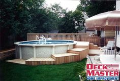 Pool deck decks pallet hot tub and ideas home design above ground how to build a diy stamped concrete kits our install Above Ground Pool Landscaping, Above Ground Pool Decks, Backyard Pool Landscaping, In Ground Pools, Piscina Pallet, Piscina Diy, Piscina Intex, Pallet Pool, Pallet Decking