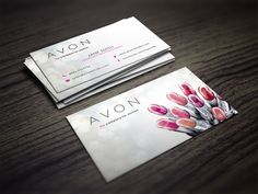 Chic and Simple Avon Independent Consultant business card design