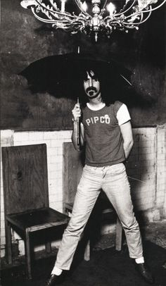 Frank Zappa (David Gahr, 1967)  New York City:  Gahr, who frequently covered the Greenwich Village music scene in the sixties, photographed the twenty-seven-year-old Zappa the night he and the Mothers of Invention appeared at Cafe Au Go Go on MacDougal Street.  The Grateful Dead played upstairs at the club on the same evening.