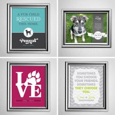 Poster prints to celebrate your furry family members! [Andrea Arch] #pets #animals #dog #cat #rescued #adopted
