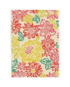 Trio Collection Brights Floral Multicolored Area Rug (2' x 3')