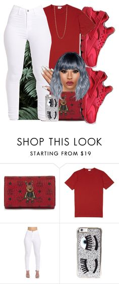 """""""💋"""" by ezzy-e ❤ liked on Polyvore featuring MCM, NIKE, Sunspel, Chiara Ferragni and Alexis Bittar"""