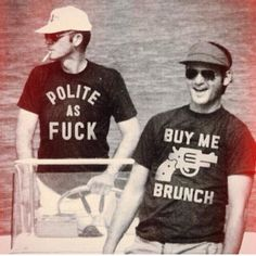 Hunter S. Thompson and Bill Murray, wearing awesome shirts. Too cool. - Imgur
