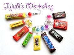 Polymer Clay Candy / Chocolate Bar Earrings