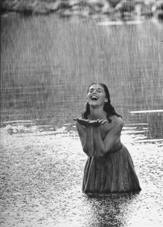 Let the rain kiss you. Let the rain beat upon your head with silver liquid drops. Let the rain sing you a lullaby. Langston Hughes