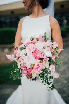 Wedding bouquet ideas | Wedding bouquet summer | Pink and white wedding bouquet ideas | Peony wedding bouquet ideas | Simple summer bouquet | New Jersey Wedding photographer | Tri-State wedding photographer | Laurel Creative