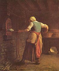 Woman Baking Bread, 1854.
