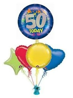 26 Best 50th Birthday Balloons Images