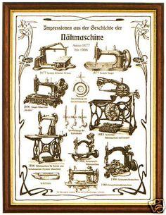 Plakat: Geschichte der Nähmaschine, Nähen, Schneider