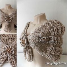 We have added a very nice shawl model for you. Crochet Jacket, Crochet Shawl, Tricot Simple, Handmade Crafts, Tatting, Knitting Patterns, Most Beautiful, Arts And Crafts, Feminine
