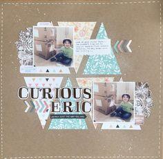 Curious Eric - 12x12 layout - craftsbymarialachiica