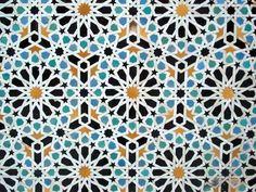 Islamic pattern mosaics.