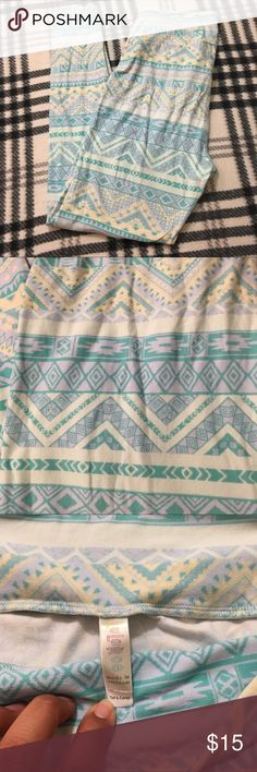 Lularoe tall and Curvy leggings pastel colors Good condition  Shows minimal wear  No tears or stains  From a pet and smoke free home LuLaRoe Pants Leggings