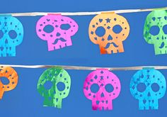 sugar skull calavera templates to download and make