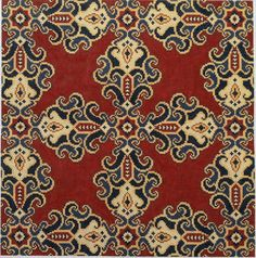 Size: 14 x 14 Cross Stitch Borders, Counted Cross Stitch Patterns, Cross Stitch Designs, Hand Painted Canvas, Carpet Design, Pattern Art, Needlepoint, Needlework, Artist