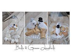 Bride & Groom Lovebirds Free Amigurumi Pattern ( Scroll Down) http://mijneigenplekkie.blogspot.nl/2012/06/bride-groom-lovebirds.html