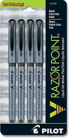 Pilot V - Razor Point - Black - 4-Pack - Marker Pen